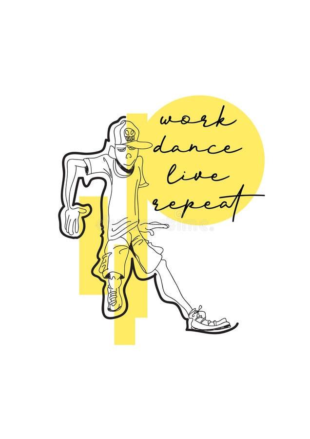 trabalho dança vivo repeat ilustração do vetor