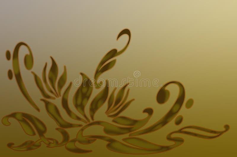 Trabalho de arte floral ilustração do vetor