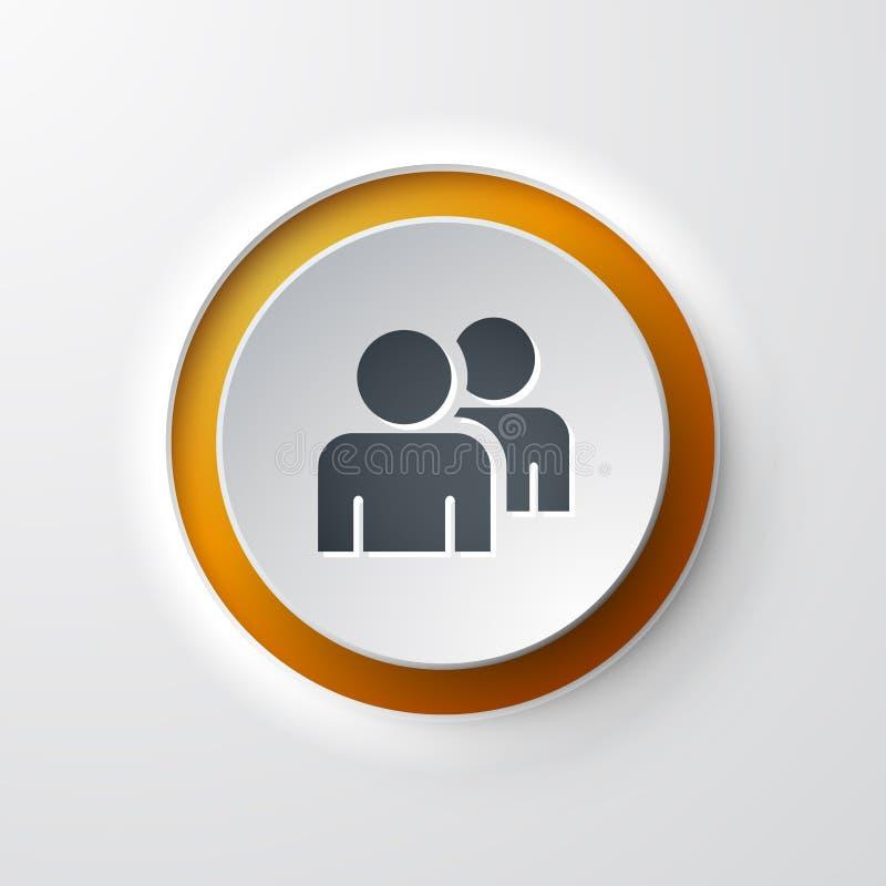 Trabalho de botão de pressão da equipe do ícone da Web ilustração do vetor
