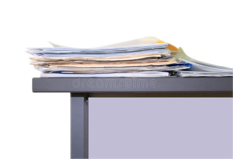 Trabalho de escritório, papéis fotografia de stock