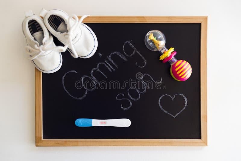 Trabalho de espera, conceito de maternidade imagens de stock royalty free