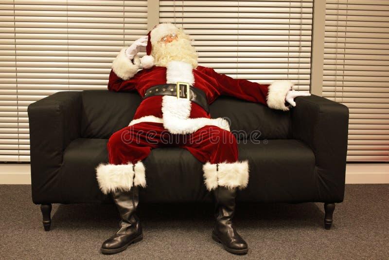 Trabalho de espera pronto do Natal de Papai Noel imagem de stock royalty free
