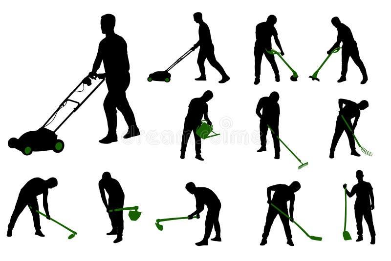 Trabalho de jardinagem ilustração do vetor