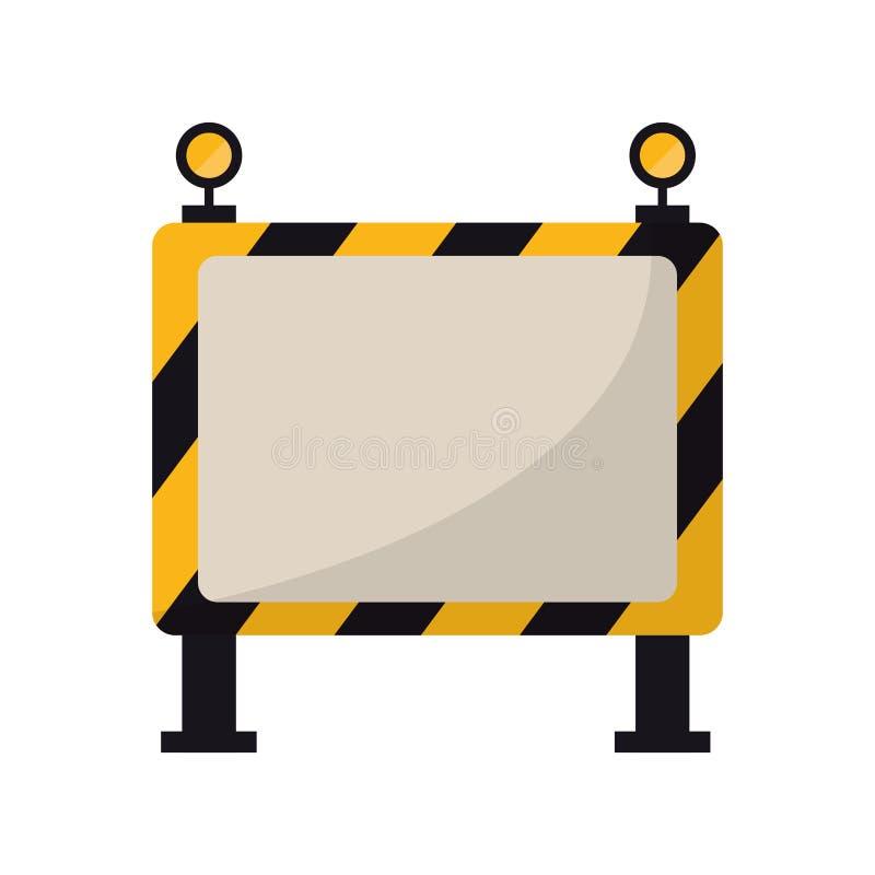 Trabalho de manutenção da segurança da barricada ilustração stock