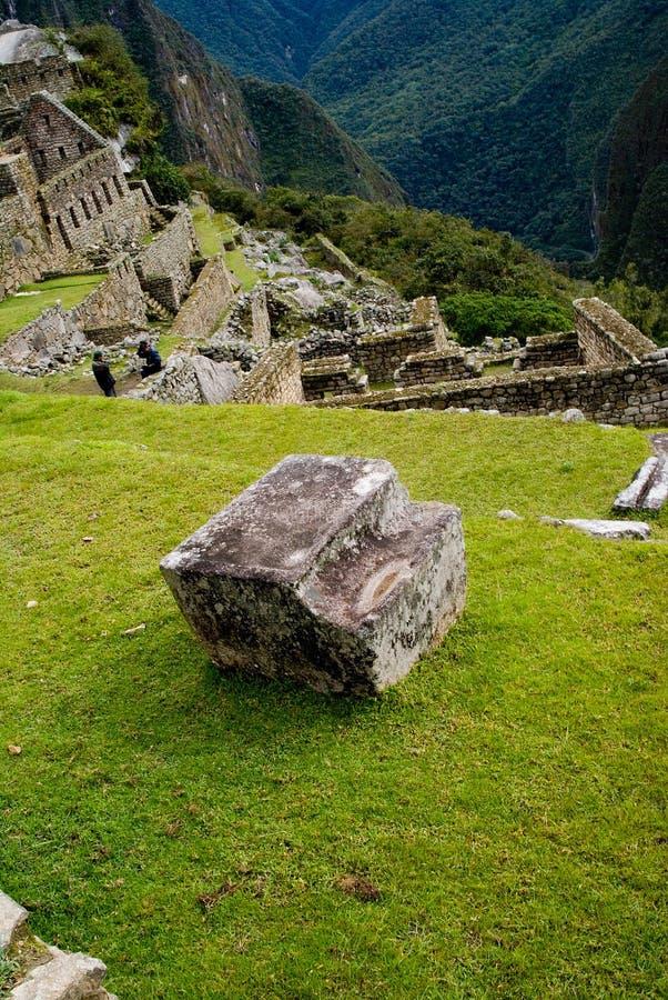 Trabalho de pedra em Machu Picchu, Peru fotos de stock