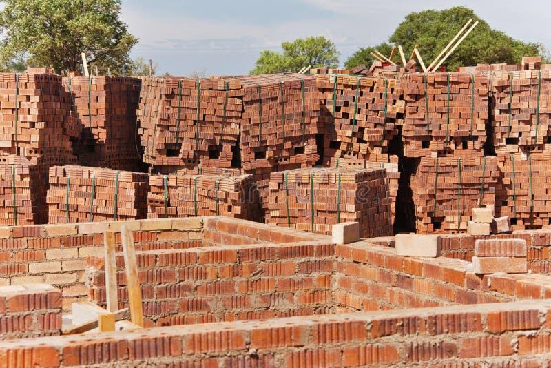 Trabalho de tijolo imagens de stock