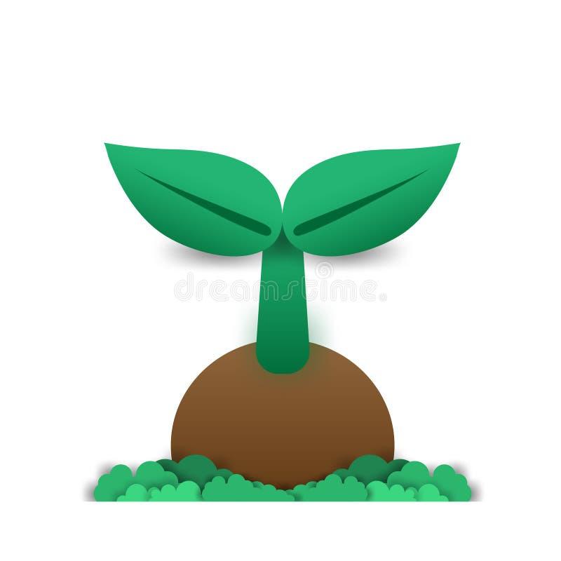 Trabalho do conceito da ecologia, o conceito de plantar árvores imagens de stock