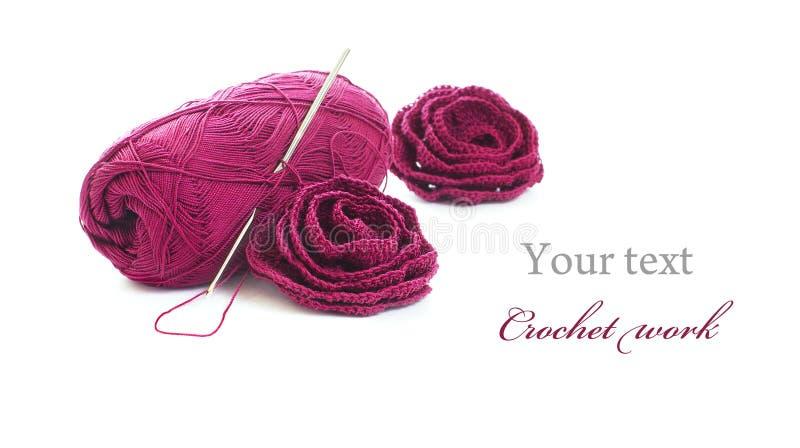 Trabalho do Crochet fotos de stock