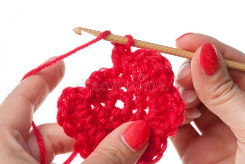 Trabalho do Crochet imagens de stock