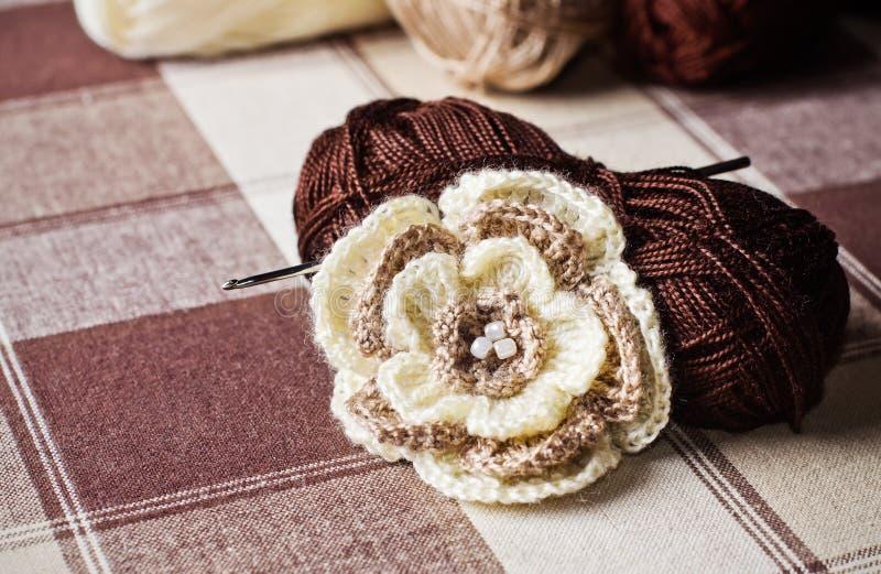 Trabalho do Crochet foto de stock royalty free