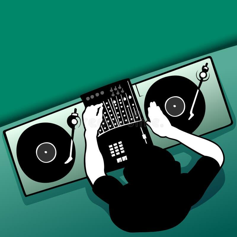Trabalho do DJ ilustração do vetor