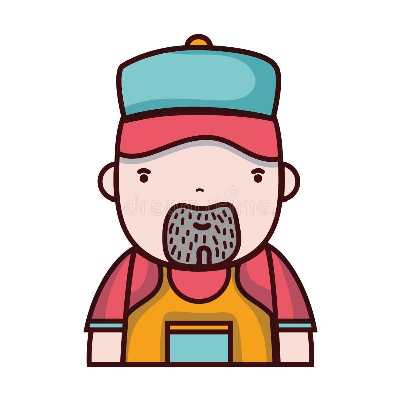 Trabalho do encanador do homem prestar serviços de manutenção ao reparo ilustração royalty free