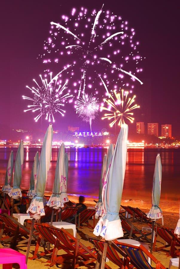 Trabalho do incêndio de Pattaya fotos de stock royalty free