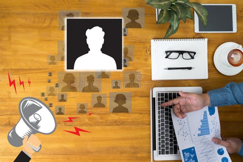 Trabalho do recrutamento da entrevista dos recursos humanos dos RECURSOS imagens de stock royalty free