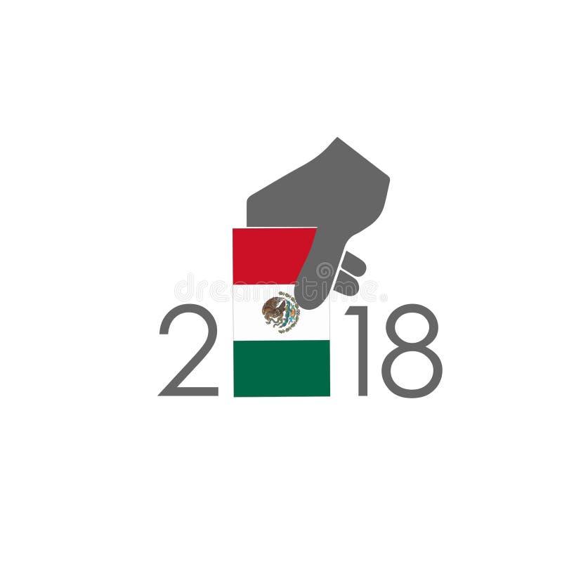 Trabalho do vetor da urna de voto de México ilustração stock
