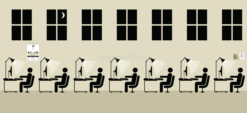 Trabalho dos empregados ilustração do vetor