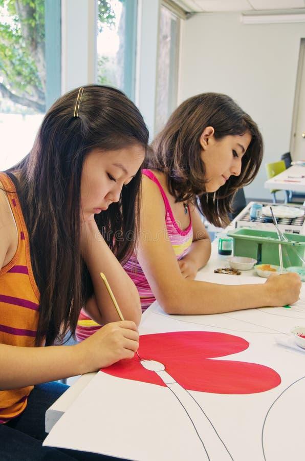Trabalho dos estudantes de arte imagens de stock royalty free