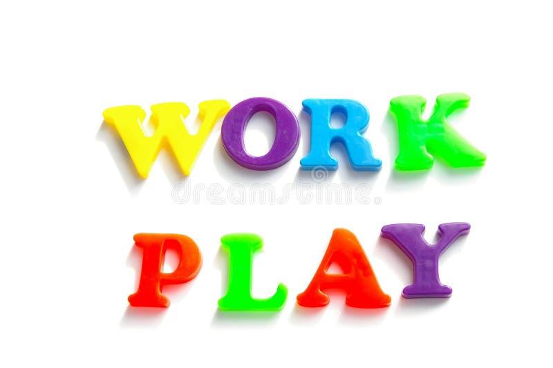 Trabalho e jogo foto de stock royalty free
