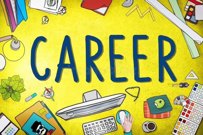 Trabalho Job Employment Recruitment Concept da carreira ilustração do vetor