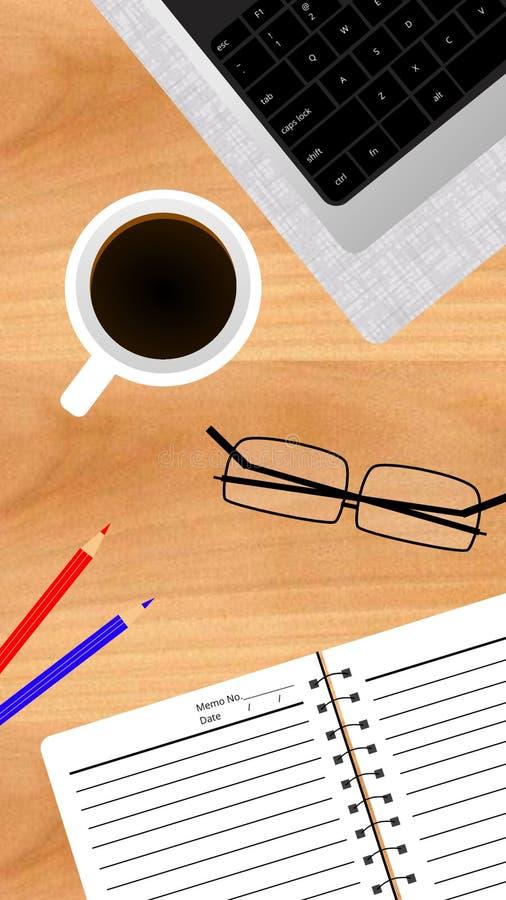 Trabalho no papel de parede do tempo do café foto de stock royalty free