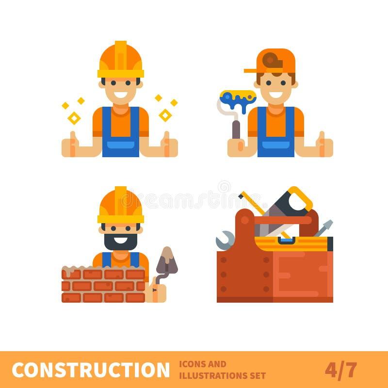 Trabalho para o construtor ou o contramestre ilustração royalty free