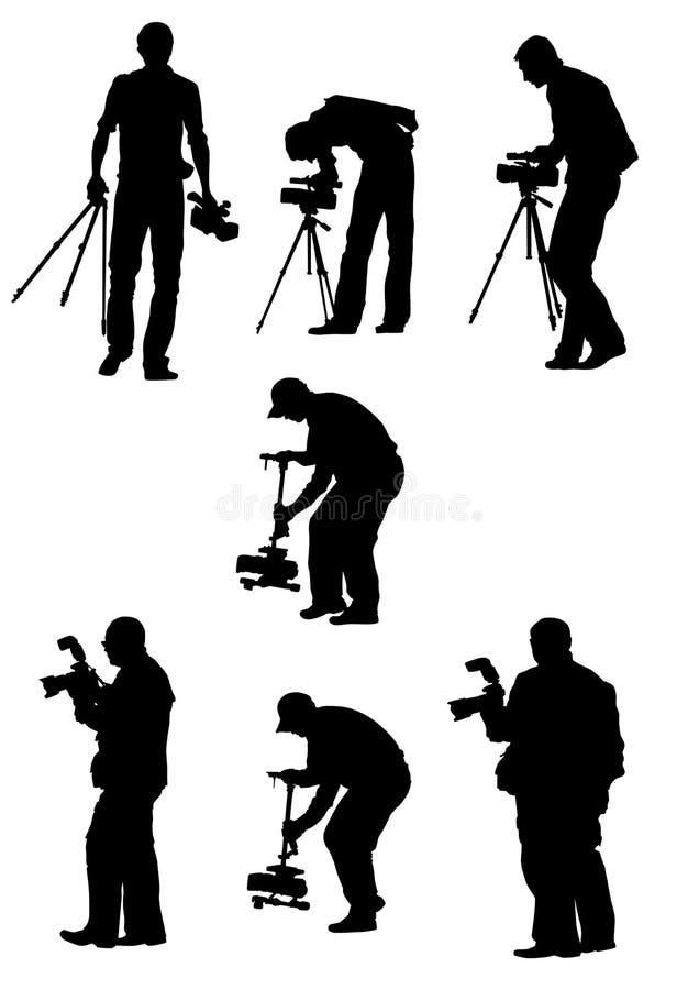 Trabalho profissional do fotógrafo ilustração stock