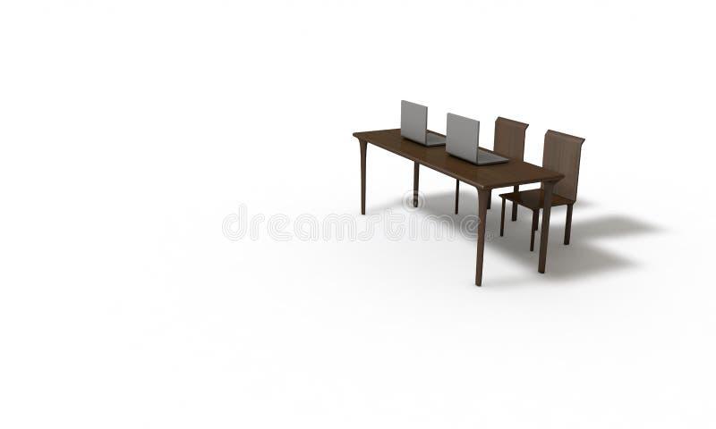 Trabalho tridimensional do objeto abstrato ilustração royalty free
