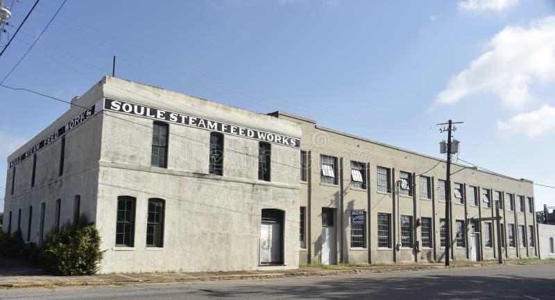 Trabalhos da alimentação de vapor de Soule, meridiano, Mississippi imagem de stock