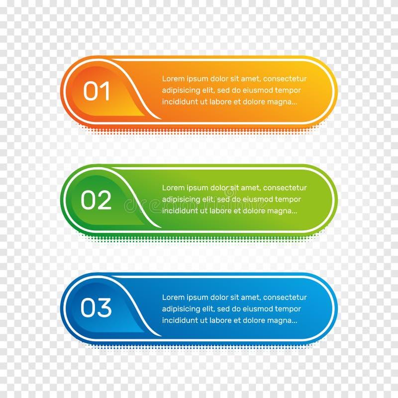 Trabalhos da disposição Menu colorido do esboço para a relação do app Opções do número Design web de elementos dos botões Infogra ilustração do vetor