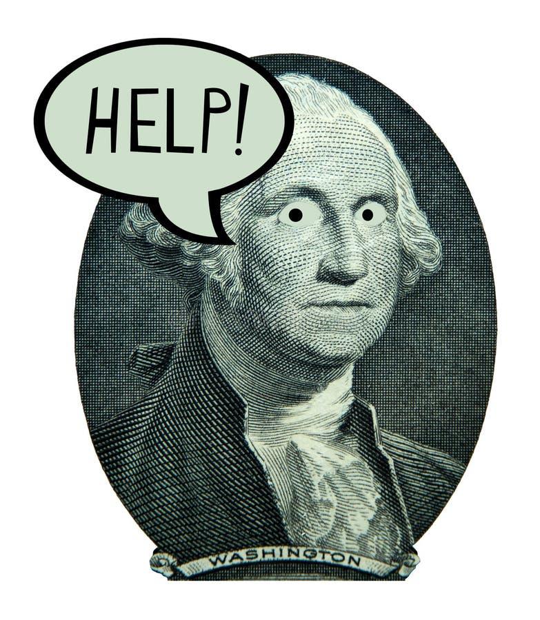 Trabalhos da economia do dinheiro do dólar americano que depositam o débito da finança foto de stock