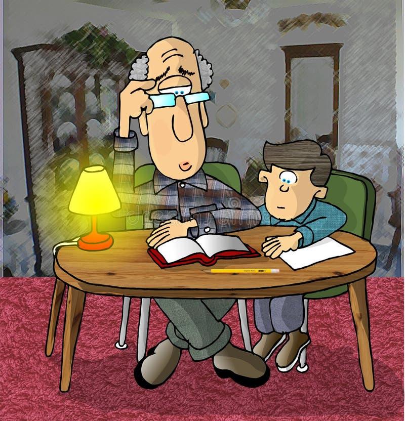 Download Trabalhos de casa ilustração stock. Ilustração de avô, atribuição - 54743