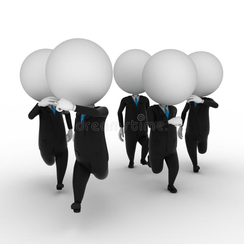 Trabalhos de equipa ilustração do vetor
