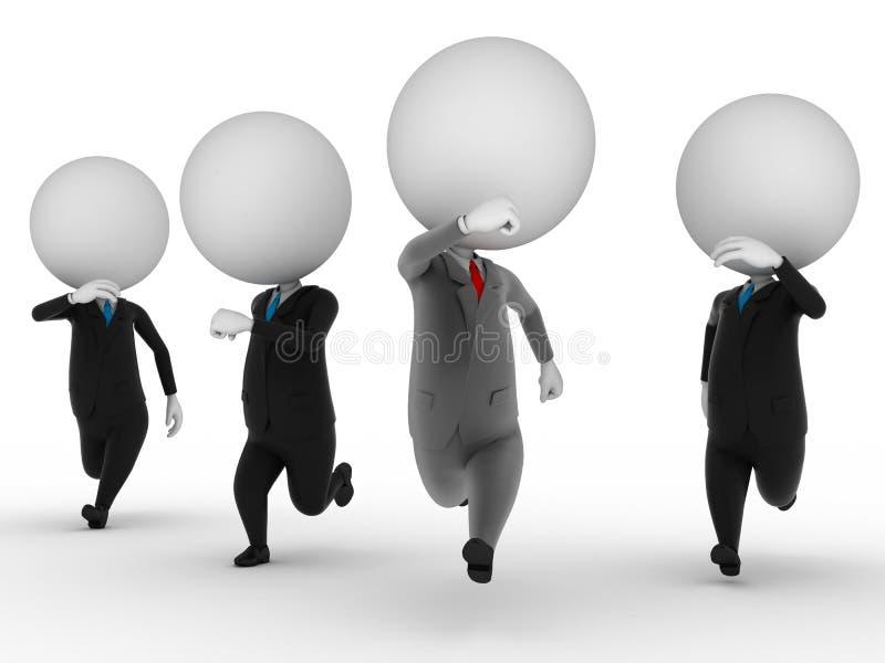 Trabalhos de equipa ilustração stock