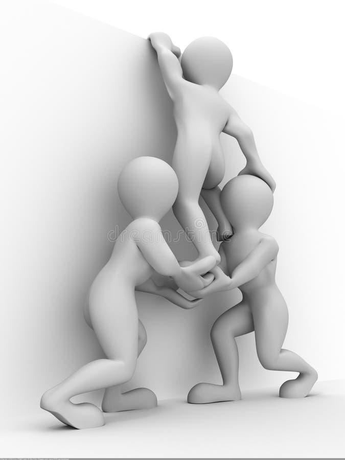 Trabalhos de equipa abstratos ilustração do vetor