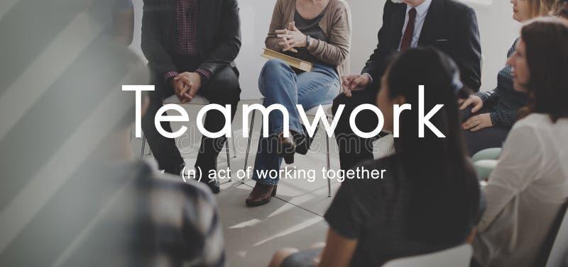Trabalhos de equipa Alliance Colaboração Empresa Team Concept imagens de stock