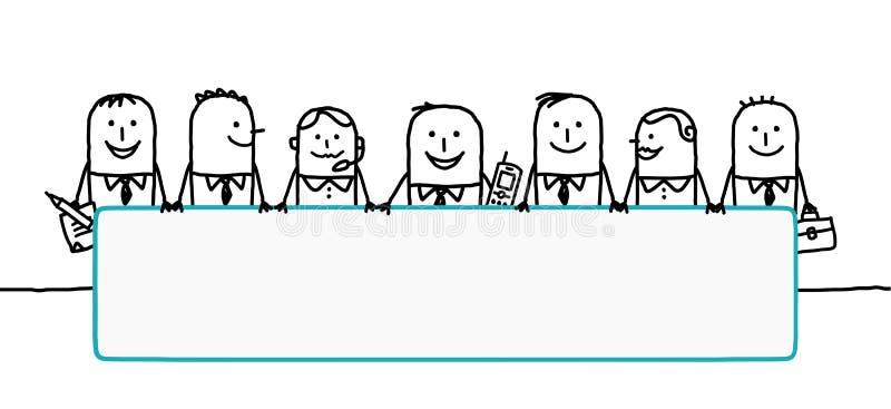 Trabalhos de equipa & espaço em branco ilustração stock