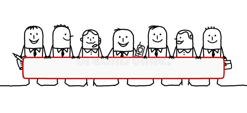 Trabalhos de equipa & espaço em branco ilustração royalty free