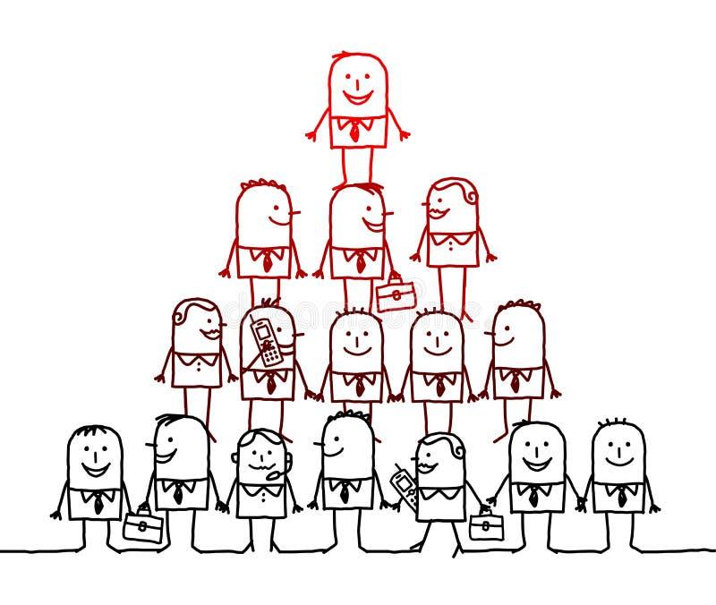 Trabalhos de equipa & liderança ilustração stock