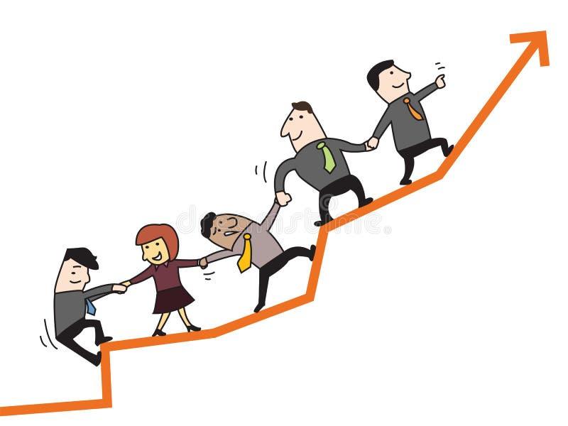 Trabalhos de equipa ao sucesso ilustração stock