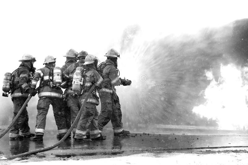 Trabalhos de equipa críticos, bombeiros imagem de stock royalty free