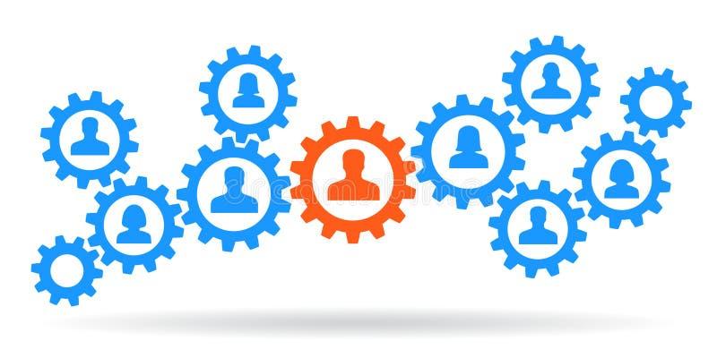 Trabalhos de equipa do conceito, pessoal, parceria - vetor ilustração stock