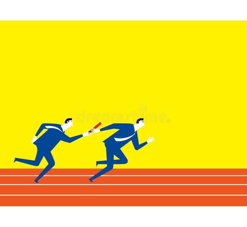 Trabalhos de equipa do esporte ilustração do vetor