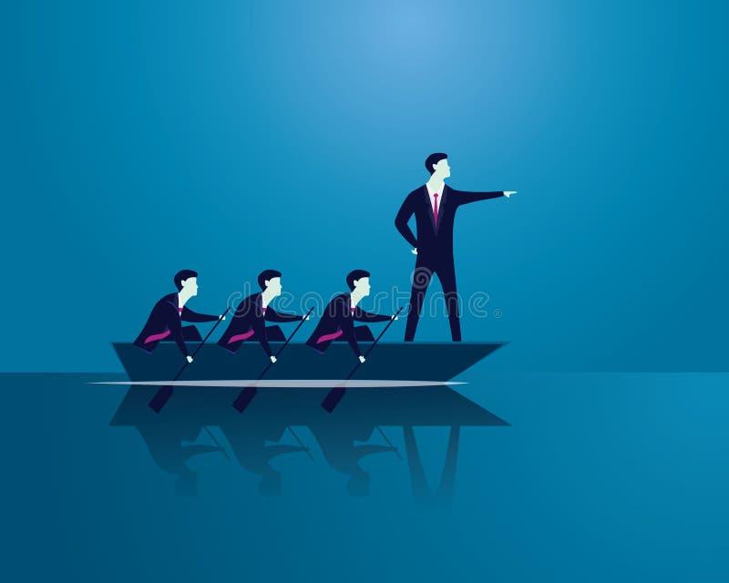 Trabalhos de equipa do negócio para alcançar junto o sucesso ilustração do vetor