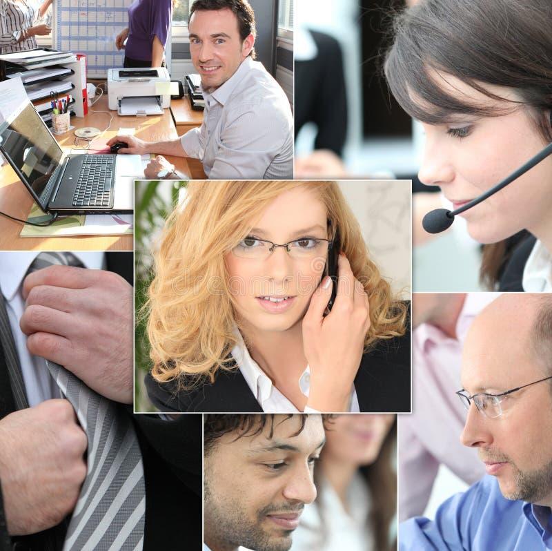 Trabalhos de equipa do setor terciário ilustração do vetor