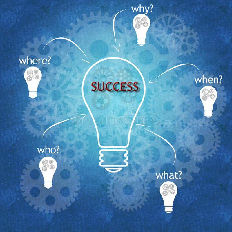 Trabalhos de equipa e sucesso do negócio ilustração do vetor