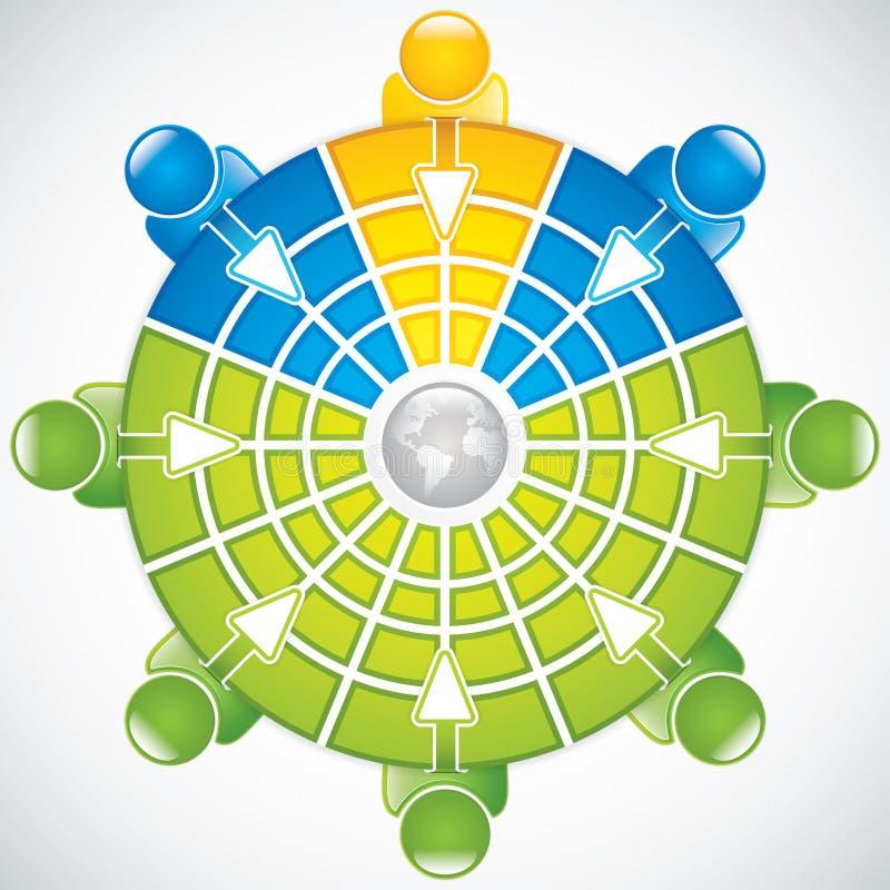 Download Trabalhos De Equipa Em Torno Da Tabela Ilustração do Vetor - Ilustração de ilustração, communication: 26507704