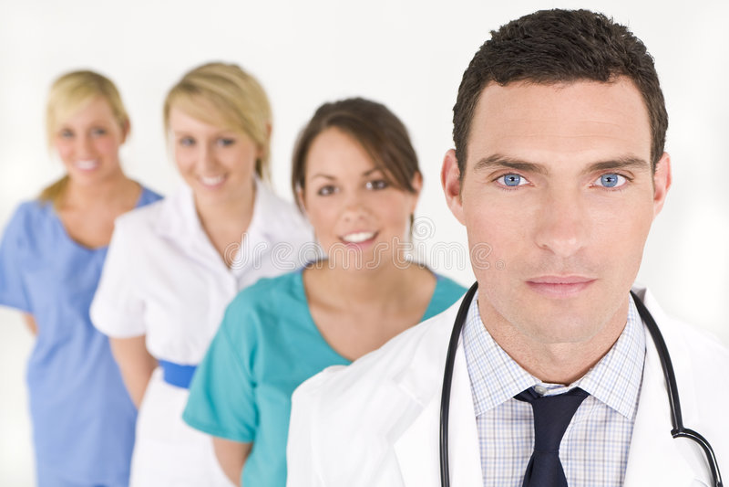 Trabalhos de equipa médicos imagens de stock