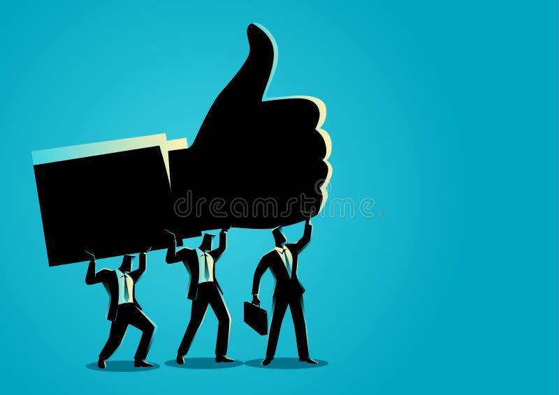 Trabalhos de equipa para o sucesso ilustração do vetor