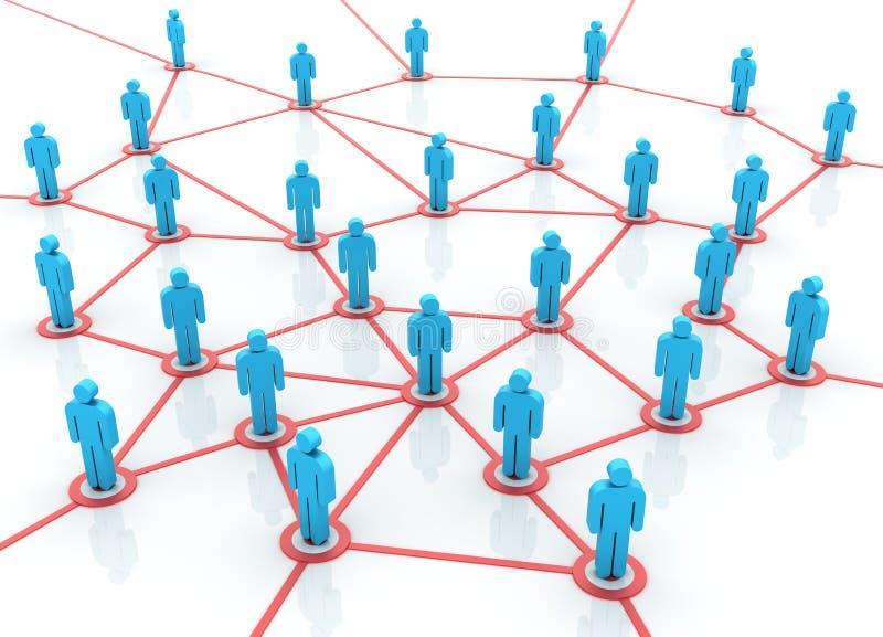 Trabalhos de equipa - rede ilustração stock