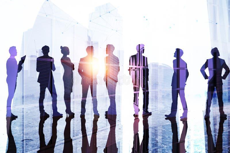 Trabalhos de equipa, sucesso e conceito da equipe ilustração royalty free